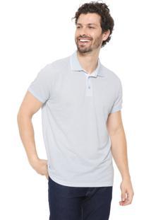 Camisa Polo Colombo Reta Lisa Azul