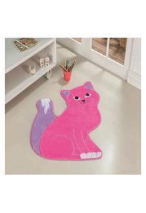 Tapete Formato Feltro Antiderrapante Gatinha Manhosa Pink