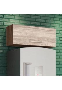 Armário Aéreo Cozinha 80 Cm Loá 1 Porta Basculante Amêndoa Rústico/Arezzo Rústico - Nicioli