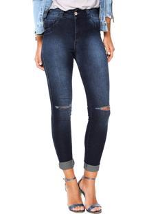 Calça Jeans Biotipo Skinny Melissa Azul Marinho