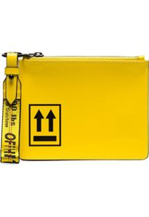 Off-White Clutch Arrow - Amarelo