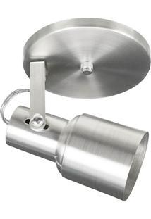 Spot 1020 Alumínio Escovado 1 Lâmpada Pavilonis