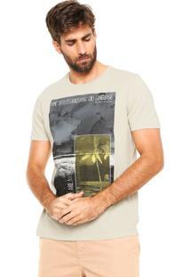 Camiseta Calvin Klein Jeans Estampada Off-White