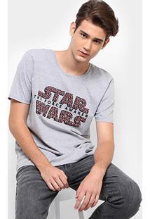 Camiseta Disney Star Wars Masculina - Masculino-Mescla