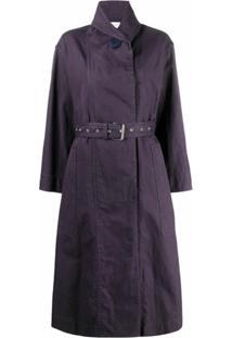 Isabel Marant Étoile Trench Coat Com Transpasse - Roxo