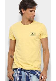 Camiseta Acostamento Básica Masculina - Masculino-Amarelo