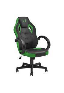 Cadeira Gamer Giratória Multilaser Ga160 Warrior Verde