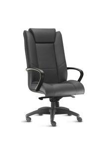 Cadeira Presidente Boss. Couro Ecológico. Mecanismo Função Relax. Ajuste A Gás. Apoio Para Braços. Rodízios Duplos. Prolabore Produtos Ergonômicos