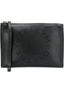 Stella Mccartney Clutch Com Logo - Preto