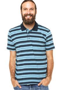 Camisa Polo Manga Curta Quiksilver Howe Azul