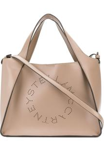 Stella Mccartney Perforated Logo Tote Bag - Neutro