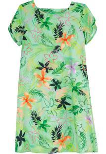 Vestido Verde Curto Floral