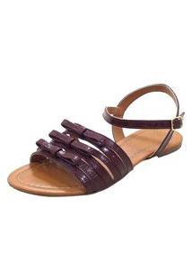 Sandália Maisapato Laços Vinho