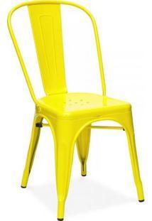 Cadeira Tolix Aço Carbono Amarelo - By Haus