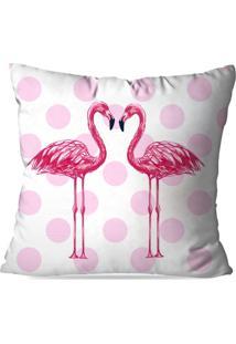Capa De Almofada Avulsa Decorativas Poo Flamingo 45X45Cm