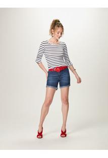 Bermuda Comfort Jeans- Azul- Malweemalwee