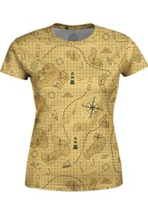 Camiseta Estampada Baby Look Over Fame Bege - Bege - Feminino - Poliã©Ster - Dafiti