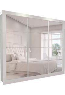 Guarda-Roupa Casal Com 3 Espelhos Helena 3 Pt 8 Gv Branco 277 Cm