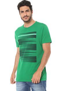 Camiseta Aramis Estampada Verde