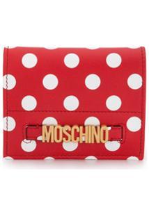 Moschino Carteira Com Poás E Logo - Vermelho