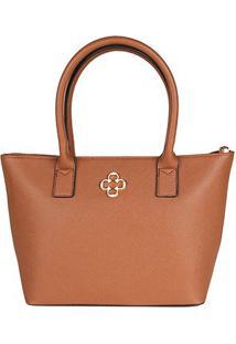 Bolsa Capodarte Handbag Soft Safiano Feminina - Feminino-Caramelo