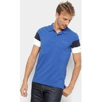 895330bb9 Camisa Polo Tommy Hilfiger Cns Sleeve Colorblock Masculina - Masculino-Azul  Royal