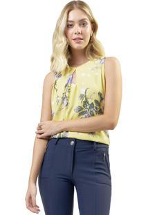 Regata Mx Fashion Estampada Malú Amarela