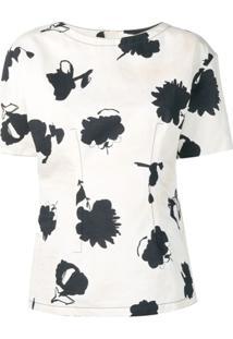 Marni Blusa Com Estampa Floral - Branco