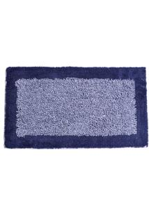 Tapete De Algodão Chenille 50Cm X 80Cm Azul Marinho