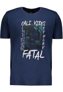 Camiseta Fatal Cali Vibes Estampada - Masculino-Azul