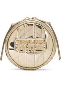 Versace Jeans Couture Porta-Moedas Redondo Matelassê - Dourado