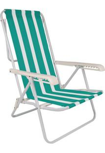 Cadeira De Praia 8 Posições Mor Aço Estampas Diversas - Item Sortido Unica