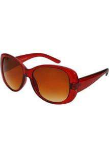 Óculos De Sol Ray Flector Buckingham 251Co Feminino - Feminino-Vermelho