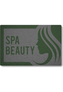 Tapete Capacho Spa Beauty - Cinza