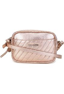 Bolsa Anacapri Mini Bag Eco Craquelure Feminina - Feminino-Rosa