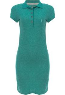 Vestido Piquet Molinet Shine Aleatory - Feminino-Verde
