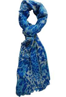 Echarpe Zohar Oncinha Azul
