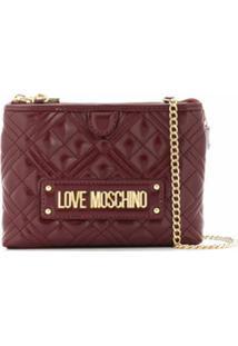 Love Moschino Bolsa Transversal Matelassê Com Logo - Vermelho