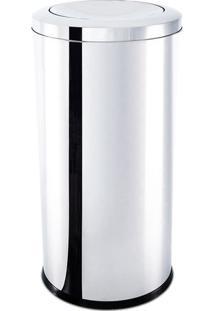 Lixeira Com Tampa Basculante- Inox- 75,5Xø40Cm- Brinox