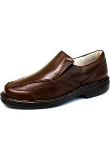 Sapato Ranster Pele Carneiro Palmilha Gel Confort Marrom