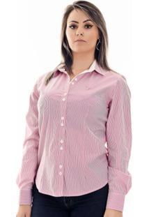 Camisa Pimenta Rosada Bella - Feminino-Rosa+Branco