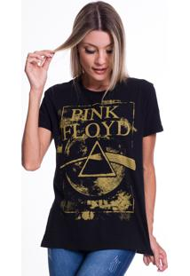 Camiseta Jazz Brasil Pink Floyd Preta - Kanui