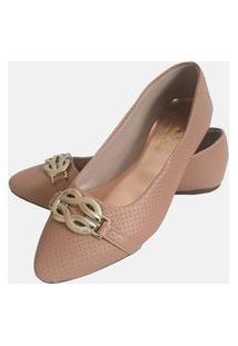 Sapatilha Estilo Shoes Cc057 Bico Fino Nude
