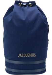 Jacquemus Large Drawstring Backpack - Azul