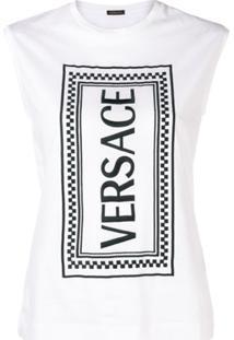 Versace Regata Com Estampa - Branco