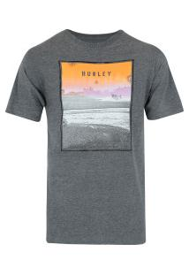 Camiseta Hurley Silk Sted Fast - Masculina - Cinza