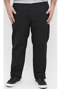 Calça Preston Plus Size Color - Masculino-Preto