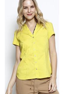 Camisa Com Pence- Verde Limã£Ovip Reserva