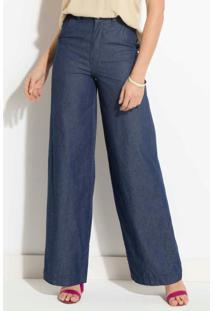 Calça Jeans Pantalona Quintess