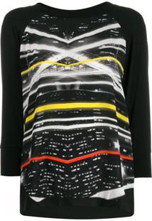 Ultràchic Blusa De Jersey Com Estampa Paparazzi - Preto